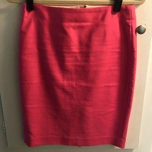 JCrew Pencil Hot Pink Pencil Skirt